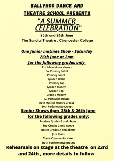 Summer Dance Celebration – 26th June 2021